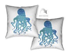 Watercolor Octopus Decorative Pillow – Laural Home