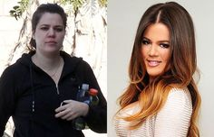 Krincess Khloe K w/o makeup and with a lot of makeup.