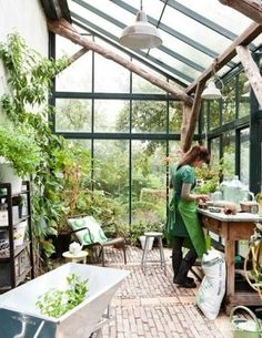 Amazing Shed Plans - Greenhouse idea - Now You Can Build ANY Shed In A Weekend Even If You've Zero Woodworking Experience! Start building amazing sheds the easier way with a collection of shed plans! Dream Garden, Home And Garden, Glass House Garden, Glass Green House, Little Green House, Green House Design, Gazebos, Greenhouse Gardening, Greenhouse Ideas