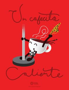 Hoy Martes se antoja un Cafecito Caliente para despertar. Fuente:http://goo.gl/ELWhK1Un cafecito caliente by Miguel Ángel González, via Behance #Mexicali#Impuestos#Mexico
