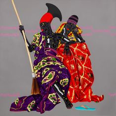 "<p>27 years old Congolese painter, Eddy Kamuanga Ilunga crafts oil and acrylic works that blend traditional iconography and technological symbology. In particular, the series ""Mangbetu"" which comments"