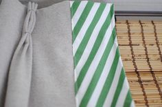 Pinch pleated drapes with border