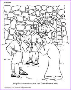 Coloring (King Nebuchadnezzar and Three Hebrew Boys) - Kids Korner - BibleWise