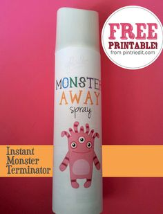 "Monster Spray Away:Another pinner said:""My dad used to come to our rooms armed with ""Monster Spray"" when we had nightmares.  He sprayed it under the bed, in my shoes, all the places monsters might hide. I loved it, the scent comforted me til I fell asleep."""