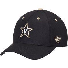 Vanderbilt Commodores Top of the World Triple Threat Adjustable Hat - Black Vanderbilt  Commodores 8de2d9eaa3f0
