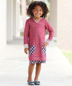 Loving this Red & Purple Sweater Dress - Toddler & Girls on #zulily! #zulilyfinds