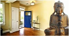 A statue of #Bidha facing front entrance can prevent negative energy to enter in your home.