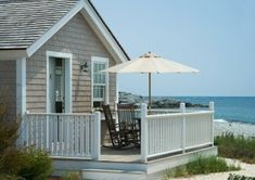 Tiny cottage by the sea!  I don't need a big beach house to make me happy - just a tiny spot.