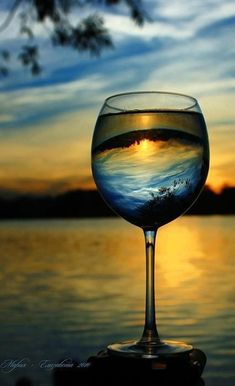 .Okay, wine, gorgeous sunset, heaven?