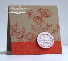 Julie's Stamping Spot -- Stampin' Up! Project Ideas Posted Daily: Elements of Style 3x3 Card