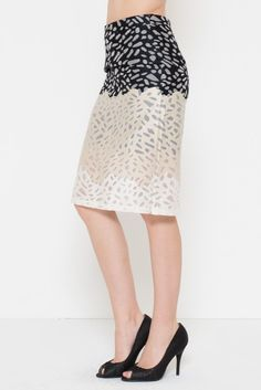Texture Pattern Pencil Skirt