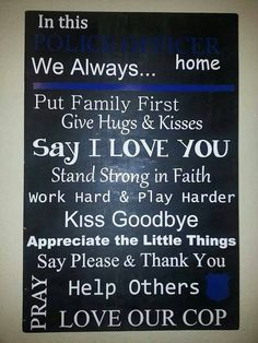 Items similar to Police Thin Blue Line sign on Etsy Love My Man, Say I Love You, Law Enforcement Quotes, National Week, My Cop, Leo Wife, Line Love, Police Gifts, Thin Blue Lines