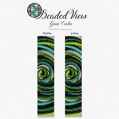 Loom Bead Pattern, Peyote Bead Pattern, Loom Bracelet Pattern, Peyote Bracelet Pattern, Abstract Bead Pattern, Two Patterns PDF, bd004