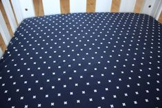 Fitted Cot Sheet / Fitted Crib Sheet in Navy by LittleDreamerAU