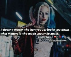 Harley quinn, suicide squad, and quotes image True Words, True Quotes, Best Quotes, Qoutes, Movies Quotes, Joker Und Harley Quinn, Harely Quinn, Joker Quotes, Badass Quotes