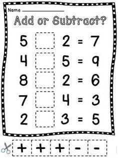 Add or Subtract | Worksheet School