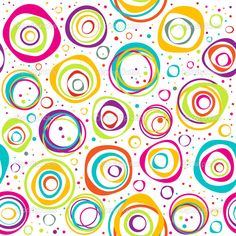 Illustration about Seamless pattern with multicolored circles and dots on white background. Illustration of geometric, circle, spring - 29569451 Cute Wallpapers, Wallpaper Backgrounds, Scrapbook Paper, Scrapbooking, Design Floral, Seamless Background, Colorful Wallpaper, Vintage Design, Surface Pattern Design