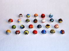Pokeball Charm by pimeh on Etsy, $3.00  Yes please!