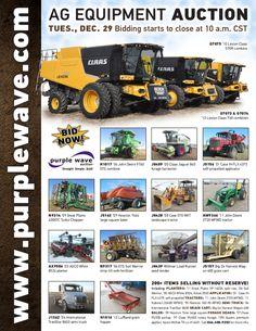 Ag Equipment Auction December 29, 2015 http://purplewave.com/a/151229
