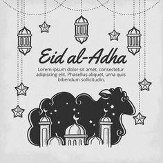 Eid Al Adha Wishes, Eid Al Adha Greetings, Happy Eid Al Adha, Happy Eid Mubarak, Eid Adha Mubarak, Eid Holiday, Ramadan Poster, Invert Colors, Eid Party