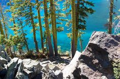 World's Clearest Water; Crater Lake, Oregon~Crater Lake is a caldera lake located in the south-central region of the U. state of Oregon. It is the main feature of Crater Lake National Park and famous for its deep blue color and water clarity Crater Lake Oregon, Oh The Places You'll Go, Cool Places To Visit, Places To Travel, Travel Destinations, Palawan, Crater Lake National Park, National Parks, Lakes