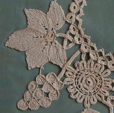 crafty jewelry: grape and leaf motif collar, free crochet patterns - crafts ideas - crafts for kids