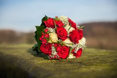 Red Wedding Bouquet, Roses, Classic, Rood Bruidsboeket |  | www.marco-en-claudia.nl