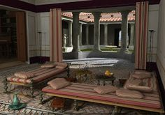 Roman dining room.