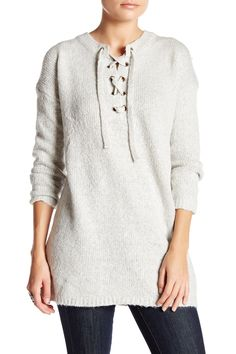 Lace-Up Knit Sweater by Leibl '38 on @nordstrom_rack