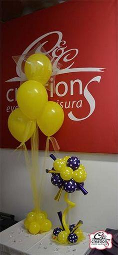 Centrotavola e Centrotavola per buffet in palloncini, indicati per la festa della donna, festa di primavera, Pasqua e per gli amanti del viola e giallo. By C&C Creations Eventi