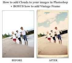 How to add clouds to your images in Photoshop!