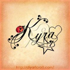 Kyra ladybug star tattoo.... This tat is just too damn adorable