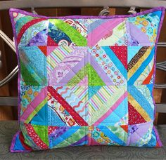 Check out this item in my Etsy shop https://www.etsy.com/ca/listing/541567609/colorful-patchwork-pillow-quilted-pillow