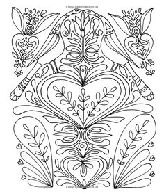 Just Add Color Folk Art Coloring Page