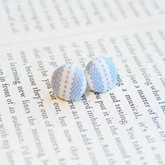 New to Onetenzeroseven on Etsy: Cottage Chic Button Earrings | Country Cottage | Nickel Free (4.75 GBP)