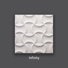 Creativity and expression. Infinity 3D Wall Tile by #TexturalDesigns #SculpturalTile #3DTile #Wallcoverings