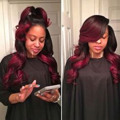 H&F 360 Lace Front Straight Virgin Human Hair Wig Natural Color Black Girls Hairstyles, Pretty Hairstyles, Dope Hairstyles, Ombre Hair, Red Hair, Burgundy Hair, Burgundy Balayage, Curly Hair Styles, Natural Hair Styles