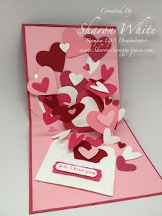 Inside Heart Card using Stampin' Up products! Sharon White