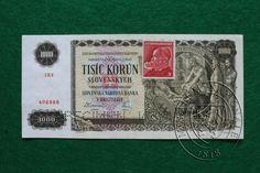 1000 Slovakian crowns - historical banknote 1940 (WW II)
