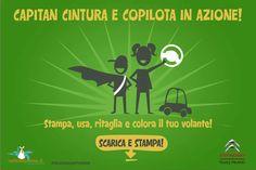 Copilota e Capitan Cintura a rapporto: i bambini sono gli aiutanti più preziosi per viaggiare sicuri www.radiomamma.it/sicurezzastradale