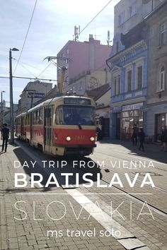 Bratislava is one of Europe's most compact capitals. The Old Town is charming and full of history while the food you will keep you coming back for more. And if you are travelling in Vienna, you can take an easy day trip to Bratislava by following my itinerary. Don't forget to pin it on your Pinterest board! #bratislavadaytrip #1dayinbratislava #viennatobratislavaday trip #mstravelsolo Europe Travel Guide, Travel Abroad, Travel Guides, Places To Travel, Travel Destinations, Europe Holidays, Group Travel, Central Europe, Bratislava