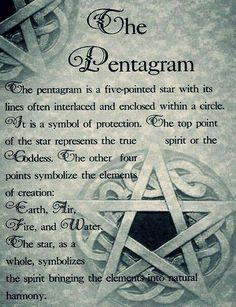 Pentagram not pentacle there is a difference...