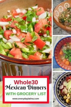 7 delicious, flavorful, Mexican meals for your next round of Whole30 with recipes from pork green chile to slow cooker crispy chicken tacos and more. #recipes #healthyrecipe #healthyliving