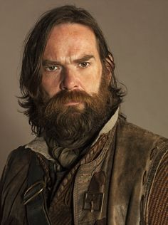 "This is a man's world... ""Murtagh was one of those men who always looked  bit startled to find that women had voices, but he nodded politely enough.""__Outlander by D.Gabaldon  [Credit -Duncan Lacroix as Murtagh in Outlander on Starz]"