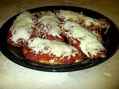 Low Carb Chicken Parmesan Recipe - Food.com - have my favorite and stay on my diet.....(save the cheats for CHOCOLATE) LOL