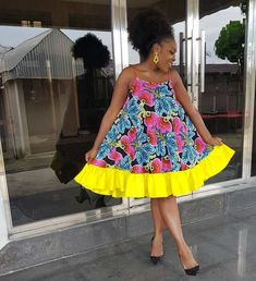 Items similar to Funky African dress / African print dress for women / African dresses / African clothing on Etsy African Prom Dresses, African Dresses For Women, African Attire, African Wear, African Fashion Dresses, Ghanaian Fashion, Ankara Fashion, African Women, Ankara Styles For Women