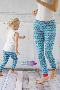 Mit Kleinkind lernt man ja die essentiellen Standardschnitte kennen. Was in keinem Mädchen-Kleiderschrank fehlen darf sind Leggings – zum Rock oder Hoodie, als passendes Näh-Accessoire und ma…