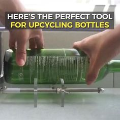 Cutting Glass Bottles, Old Glass Bottles, Glass Bottle Crafts, Bottles And Jars, Bottle Art, Cut Wine Bottles, Bottle Cutter, Cool Gadgets To Buy, Tips & Tricks