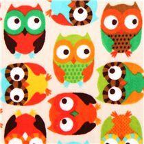 cream owl minky fabric fleece plush Timeless Treasures