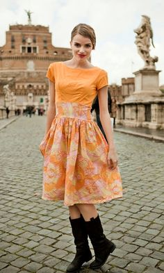 this dress is named well...fresh vintage-y look for spring.